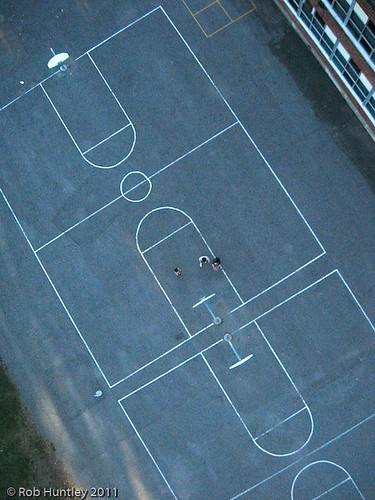 Basketball Courts from above - Kite Aerial Photography (KAP)