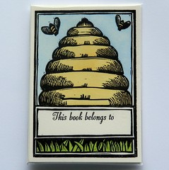 coloured beehive bookplate