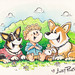 Danger and his Corgis! by andyrunton