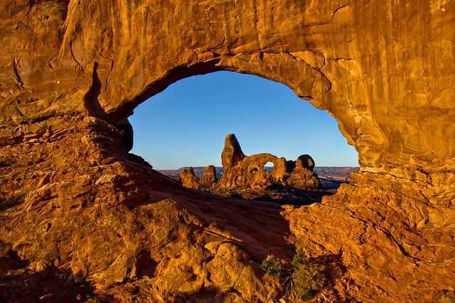 Sunrise at Window Arch