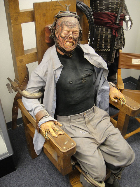Electric chair aftermath - The Prop Store Of London La Electric Chair From The