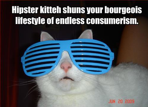 Hipster kitteh trollcat