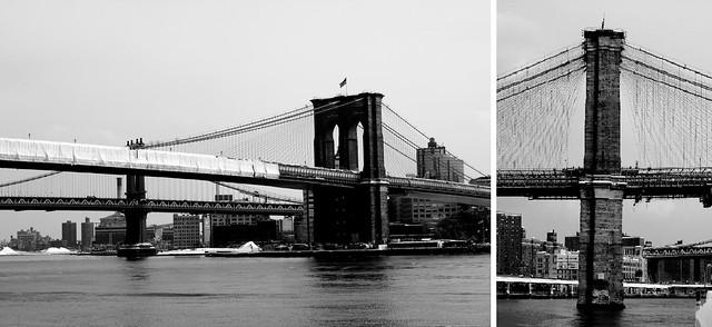 [el Puente de Brooklyn en B/N]