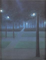 Nocturne au parc royal de Bruxelles , 1897, by de Nuncques