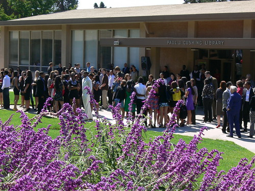Convocation in front of Cushing Library on Corrigan Courtyard 2010