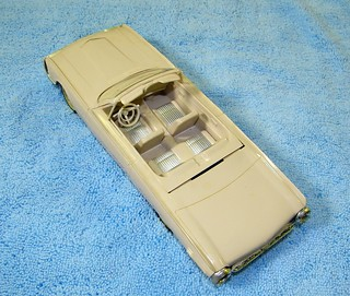1961 Thunderbird Convertible Promo Model Car  - Honey Beige