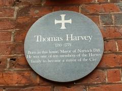 Photo of Thomas Harvey green plaque