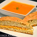 Focaccia Grilled Cheese with Tomato Basil Soup by Yack_Attack