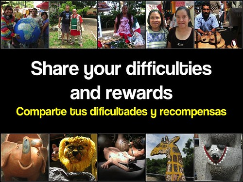 Share your difficulties and rewards