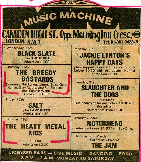 1978 - Music Machine Ad in February