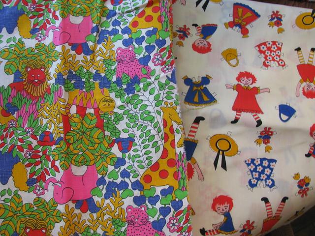 Vintage children fabric for Retro childrens fabric