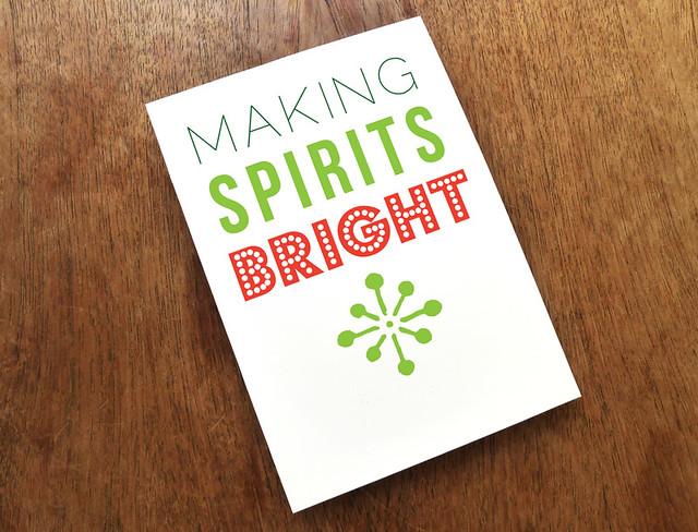 Printable Christmas Card - Bright Spirits   Flickr - Photo Sharing!
