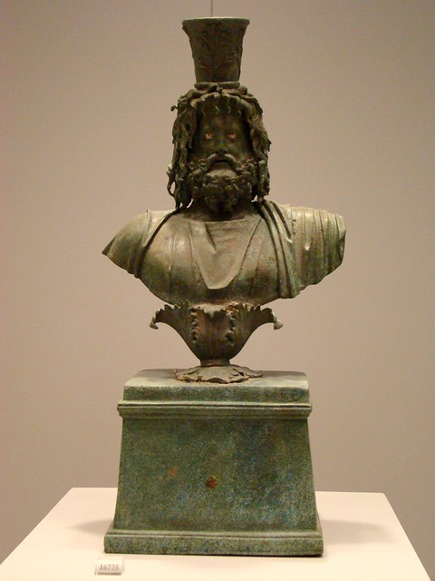 bronze bust of Serapis