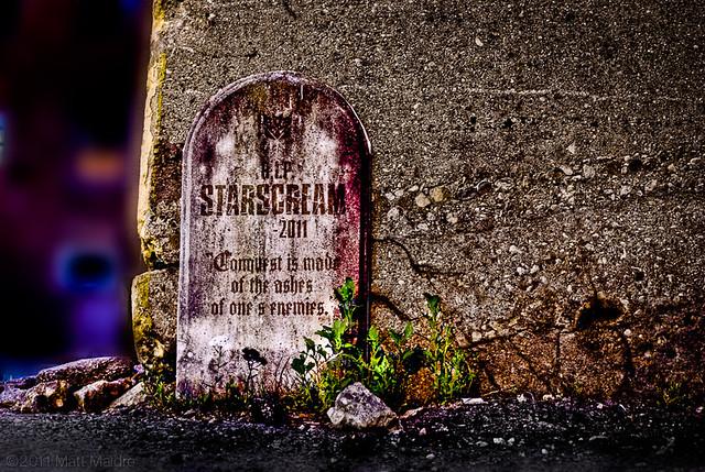 SPOILER ALERT: Gravestone for Starscream in Chicago, Transformers 3, TF3 movie