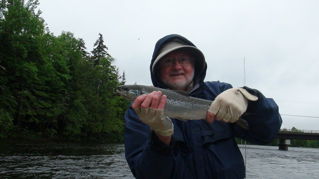 Bob with one of many salmon from the East Outlet