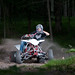 Zach sliding on his Yamaha YFZ 450