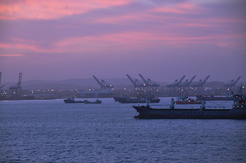 cruise pink sea vacation port sunrise bay canal nikon entrance bahia caribbean panama limon panamacanal traval d5000 nikon18200mmvrii nikond5000