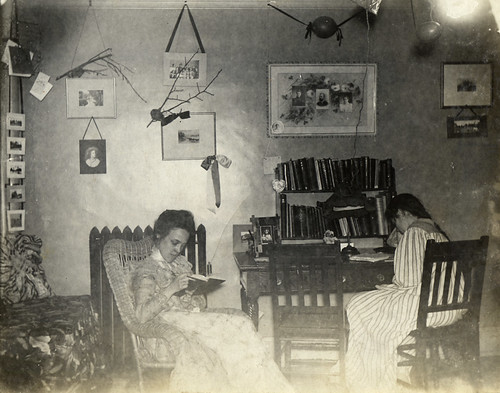 Leila Bascom's dorm room in Chadbourne Hall, 1899.