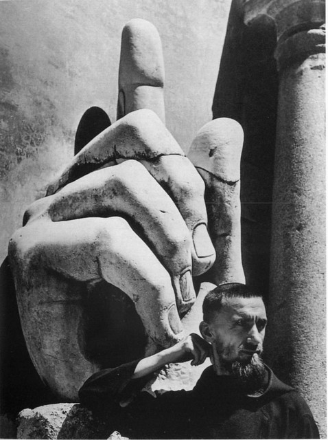 Cy Twombly, Hand of Constantine, Musei Capitolini, Rome, by Robert Rauschenberg
