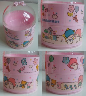 1985 Little Twin Stars plastic container