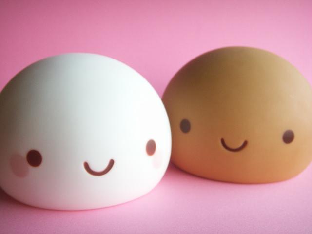 Cute Japanese Toys : Kawaii cute onsen manju kun coin bank japanese sweets toys