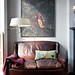 Kathleen Hackett and Stephen Antonson / The New York Times / Trevor Tondro {eclectic flea market vintage modern living room}