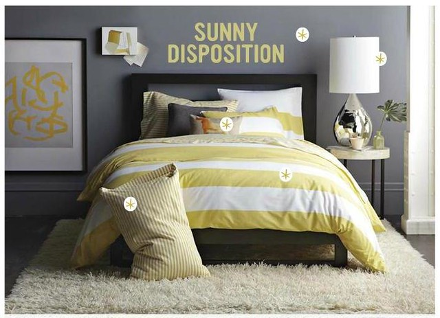 5982017020 f80e56cd3f Gray and yellow bedroom