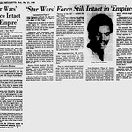 Review - Empire Strikes Back - Star Wars Force Intact in Empire - Pittsburgh Post-Gazette - 1980-05-21