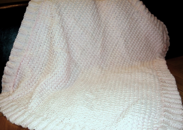Knitting Blanket Moss Stitch : double moss stitch blanket, baby pink Flickr - Photo Sharing!