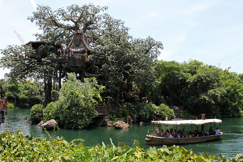 Tarzan's Treehouse across the Rivers of Adventure