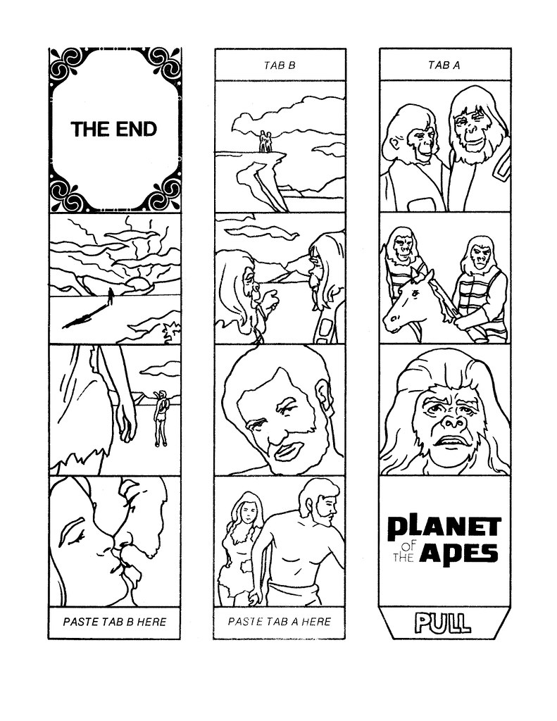 Planet of the Apes Cut & Color Book00017