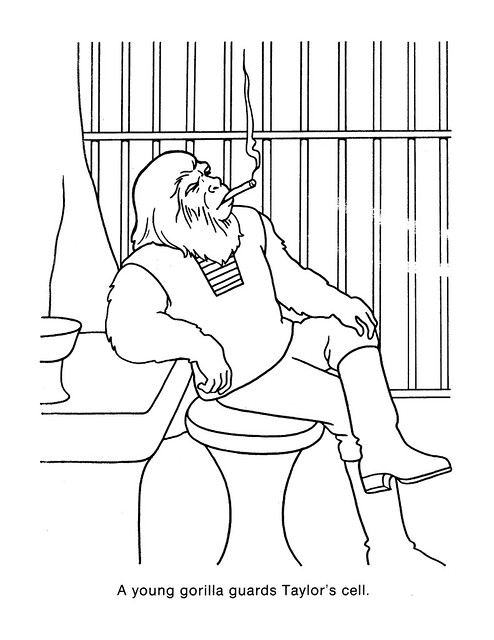 Planet of the Apes Coloring Book 0200043