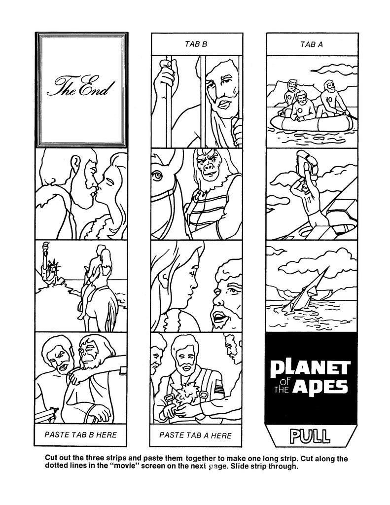 Planet of the Apes Cut & Color Book00015