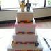 Lego-effect wedding cake! by Crafty Confections