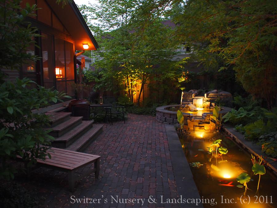 Minnesota landscape design inspired by bali natural for Garden pond lights