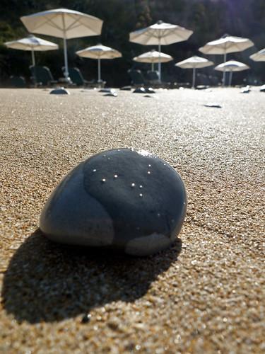 sea vacation sun beach stone sunrise sand greece pebble umbrellas kefalonia holyday