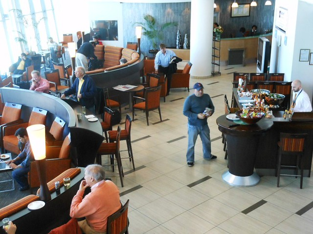 Header of airport lounge