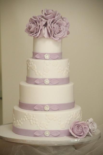 Purple Rose Wedding Cake 4 Inch 6 Inch 8 Inch 10 Inch