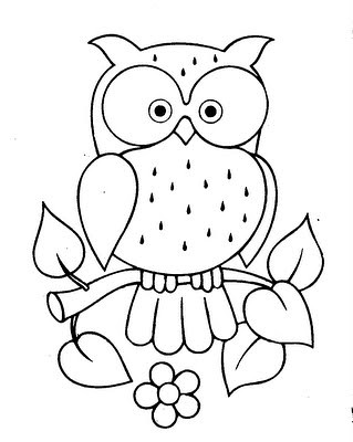 Free Printable Owl Applique Pattern