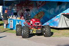 sports(0.0), race(0.0), sprint car racing(0.0), formula one(0.0), race track(0.0), auto racing(1.0), racing(1.0), vehicle(1.0), motorsport(1.0), monster truck(1.0),