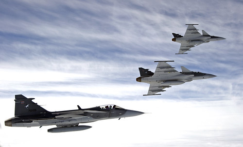 Royal Thai Air Force Gripens in formation