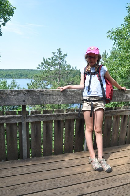 Sarah at the end of Cliff Top Trail