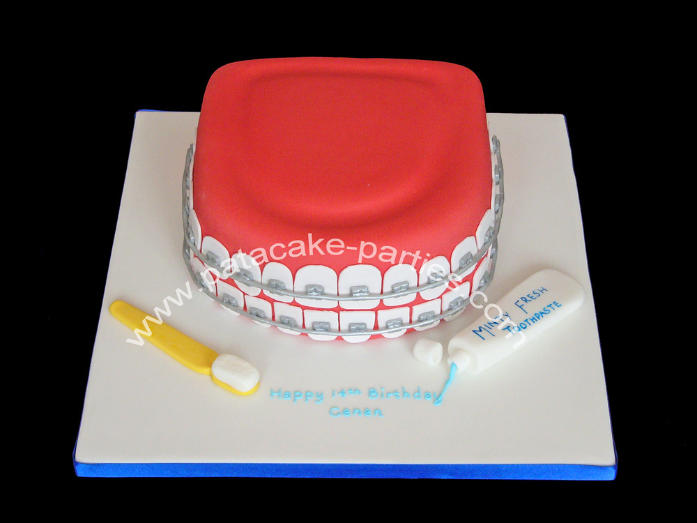 Teeth With Braces Cake