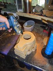 Glueing automata head together