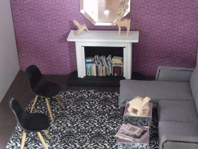 purple and black living room flickr photo sharing. Black Bedroom Furniture Sets. Home Design Ideas
