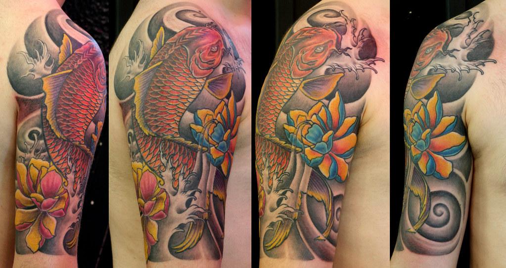 koi fish tattoo dragon