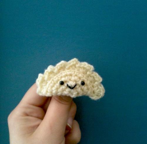Dumpling brooch