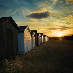 Sunset at Shoebury Common beach