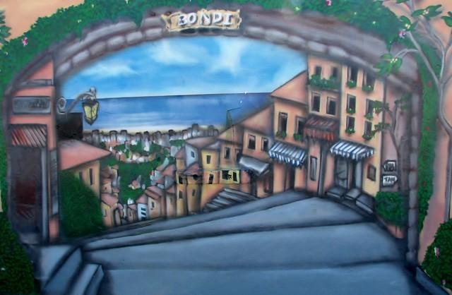 Street scene Graffiti - Bondi Beach