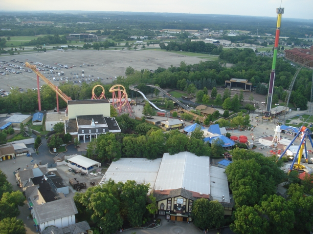 Kings Island view from the Eiffel Tower